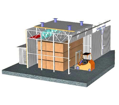 Основные типы лесосушильных камер: Камеры с электрическим теплоснабжением