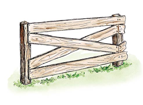 Дощатые ограды внакрой